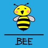 Estilo desenhado à mão da abelha Fotografia de Stock
