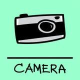 Estilo desenhado à mão da câmera Imagens de Stock