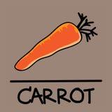 Estilo desenhado à mão da cenoura bonito, ilustração do vetor Imagem de Stock Royalty Free