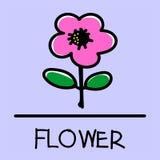 Estilo desenhado à mão da flor Fotos de Stock Royalty Free