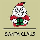 Estilo desenhado à mão de Santa Claus Imagens de Stock Royalty Free