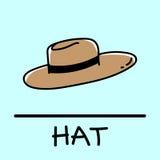 Estilo desenhado à mão do chapéu Imagens de Stock Royalty Free