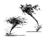 Estilo desenhado à mão do esboço do furacão ilustração royalty free