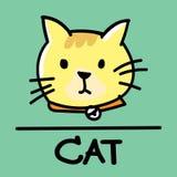 Estilo desenhado à mão do gato bonito, ilustração do vetor Imagem de Stock