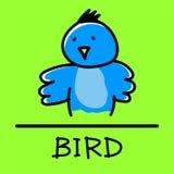Estilo desenhado à mão do pássaro Imagem de Stock