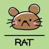 Estilo desenhado à mão do rato bonito, ilustração do vetor Fotos de Stock Royalty Free