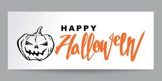 Estilo dibujado mano Halloween del garabato y caligrafía, cartel o prohibición Fotografía de archivo