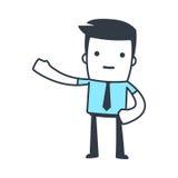 Estilo divertido del arte de Line del hombre de negocios del carácter Imagen de archivo libre de regalías