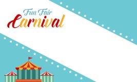 Estilo divertido del funfair del carnaval del fondo libre illustration