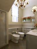 Estilo do art deco do banheiro Imagens de Stock