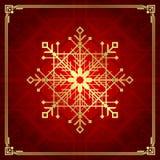 Estilo do art deco do floco de neve do Natal Fotografia de Stock