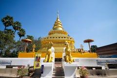 Estilo do asiático do pagode do ouro Imagens de Stock