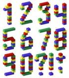 Estilo do bloco do brinquedo do número do pixel Imagens de Stock Royalty Free