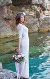 Estilo do boho da noiva Fotografia de Stock