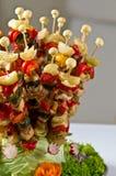 Estilo do bufete do shashlik dos peixes Imagem de Stock Royalty Free