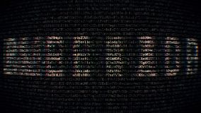 Estilo do código do fundo com senha do texto vídeos de arquivo