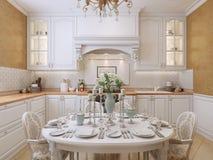 Estilo do clássico da cozinha fotografia de stock royalty free