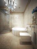 Estilo do clássico do banheiro Fotos de Stock Royalty Free