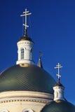 Estilo do classicism da catedral de Nevjansk fotos de stock royalty free