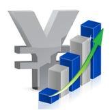 Estilo do ícone da moeda dos ienes Imagem de Stock Royalty Free