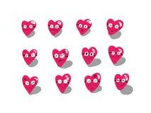 Estilo do emoticon do coração Foto de Stock