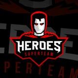 Estilo do esporte do logotipo do super-herói Imagem de Stock Royalty Free