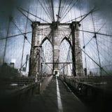 Estilo do grunge da ponte de Brooklyn Foto de Stock