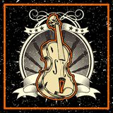 Estilo do Grunge o violino do conceito da música clássica ilustração royalty free
