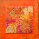 Estilo do indian da arte -final Imagem de Stock Royalty Free