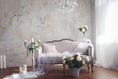 Estilo do interior da decoração do casamento Fotografia de Stock Royalty Free