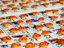 Estilo do italiano do jogo do Bingo imagem de stock