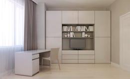 Estilo do minimalismo da sala de visitas Foto de Stock