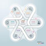 Estilo do origâmi de Infographics do círculo de negócio. ilustração do vetor