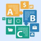 Estilo do origâmi de Infographics do negócio pode ser usado para a disposição dos trabalhos, bandeira, número intensificam o desi Foto de Stock