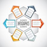Estilo do origâmi do círculo de Infographics ilustração royalty free