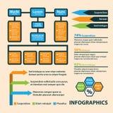 Estilo do origâmi do círculo do infographics do negócio pode ser usado para a disposição dos trabalhos, bandeira, diagrama, opçõe Fotos de Stock Royalty Free