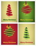 Estilo do origami dos cartões de Natal Imagens de Stock Royalty Free
