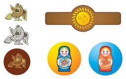Estilo do ornamental do russo Imagens de Stock Royalty Free