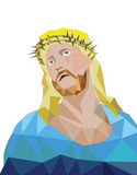 Estilo do polígono de jesus do vetor ilustração stock
