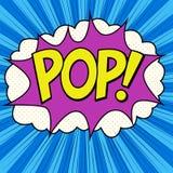 Estilo do pop art do POP da palavra fotografia de stock