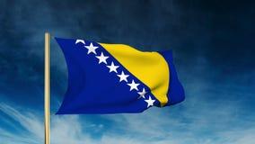 Estilo do slider da bandeira de Bósnia e de Herzegovina acenar ilustração royalty free