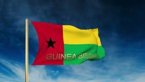 Estilo do slider da bandeira de Guiné-Bissau com título acenar ilustração royalty free