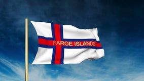 Estilo do slider da bandeira de Ilhas Faroé com título acenar ilustração royalty free