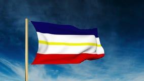 Estilo do slider da bandeira de Meclemburgo-Pomerania acenar ilustração royalty free