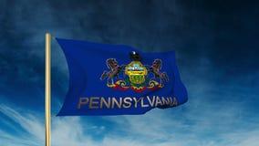 Estilo do slider da bandeira de Pensilvânia com título acenar ilustração royalty free