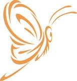 Estilo do Swish da borboleta Foto de Stock Royalty Free
