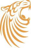 Estilo do Swish do tigre Imagens de Stock Royalty Free