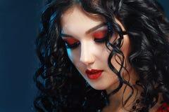 Estilo do vampiro da noite Fotos de Stock Royalty Free