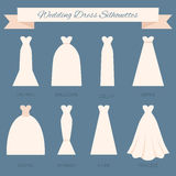 Estilo do vestido de casamento ilustração stock