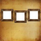 Estilo do Victorian de três frames do ouro Imagem de Stock Royalty Free